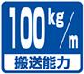 搬送能力・100kg/m