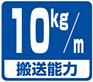 搬送能力目安・10kg/m