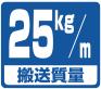 搬送能力目安・25kg/m
