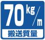 搬送能力目安・70km/m